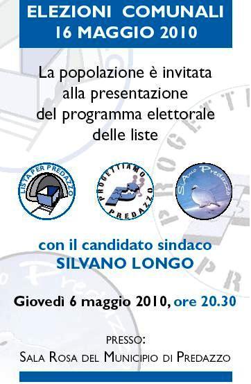 incontro silvano longo1 Predazzo elezioni: Serata di presentazione programma e liste del candidato sindaco Silvano Longo.