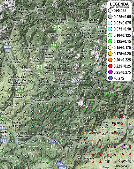 mappa sismica predazzo 1 by blog predazzo La mappa sismica interattiva dell'Italia con i dati di rischio per ciascun Comune, ad es. Predazzo.