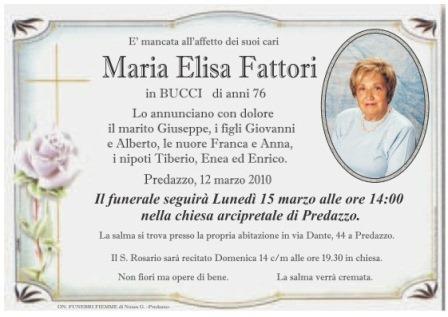 necrologio maria elisa fattori blog predazzo 1 Necrologia Predazzo: Maria Demartin ved. Gabrielli e Maria Elisa Fattori in Bucci