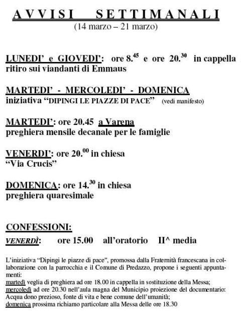 predazzo avvisi parrocchia blog predazzo1 Parrocchia di Predazzo, avvisi settimanali (14   21 marzo)