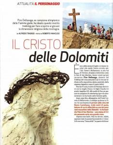 Famiglia Cristiana servizio Cristo pensante Dolomiti 1 predazzoblog 234x300 Il Cristo Pensante sul settimanale Famiglia Cristiana