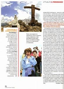Famiglia Cristiana servizio Cristo pensante Dolomiti predazzoblog.it  218x300 Il Cristo Pensante sul settimanale Famiglia Cristiana