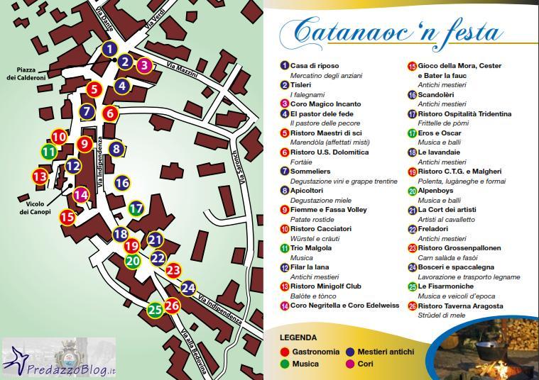 catanauc 2010 cartina predazzoblog.it  Predazzo, Catanaocn festa nel rione di Is cia venerdì 20 agosto 2010