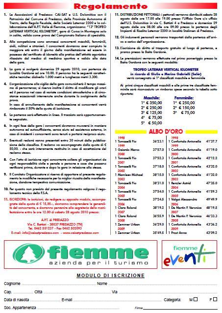 vertical kilometer 1 Predazzo, 13 Trofeo Latemar Vertical Kilometer
