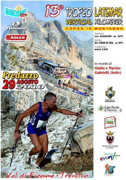 vertical kilometer Predazzo, 13 Trofeo Latemar Vertical Kilometer