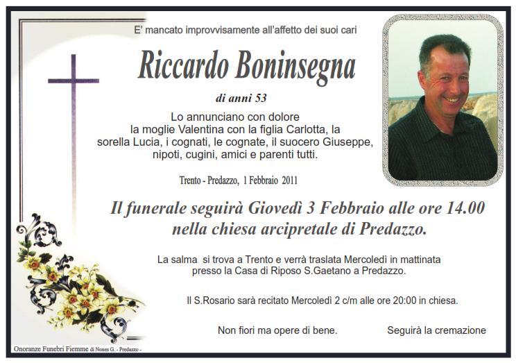 Riccardo boninsegna Predazzo necrologi: Riccardo Boninsegna, Romiro Giacomelli, Giovanni Gabrielli