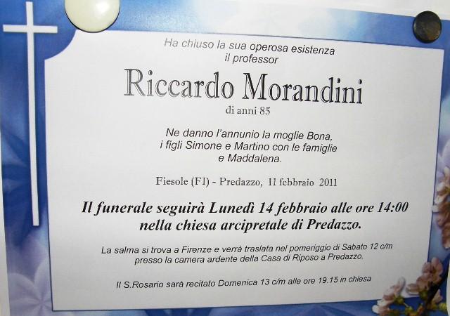 riccardo morandini Predazzo necrologie, Gemma Bellumat e Riccardo Morandini