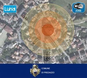 mappa WiFi luna predazzo1 300x268 Wi Fi gratuita nella piazza di Predazzo e dintorni