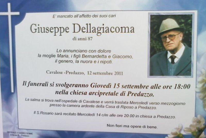 necrologio giuseppe dellagiacoma predazzo blog Predazzo necrologi, Giuseppe Dellagiacoma (giochelòn)