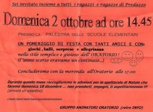 locandina aprertura oratorio 2011 predazzo blog 300x221 Predazzo, riapre lattività di Oratorio per i ragazzi con un pomeriggio di festa