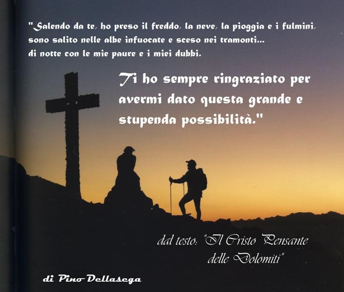 pensieri al Cristo Pensante Predazzo Blog Nel silenzio tramonta il sole al Cristo Pensante
