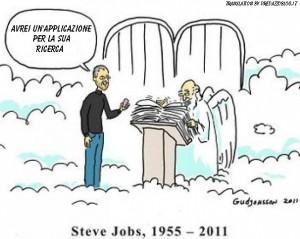 vignetta steve jobs da san Pietro traduzione by predazzo blog 300x239 Muore Steve Jobs  fondatore di Apple. Video del discorso di Steve Jobs ai neolaureati di Stanford