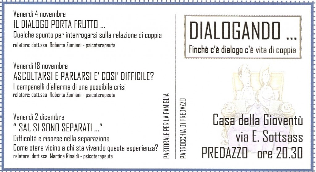 dialogando e vita di coppia predazzo blog 1024x559 Il Dialogo porta Frutto, registrazione live serata con il dott Gregorio Pezzato
