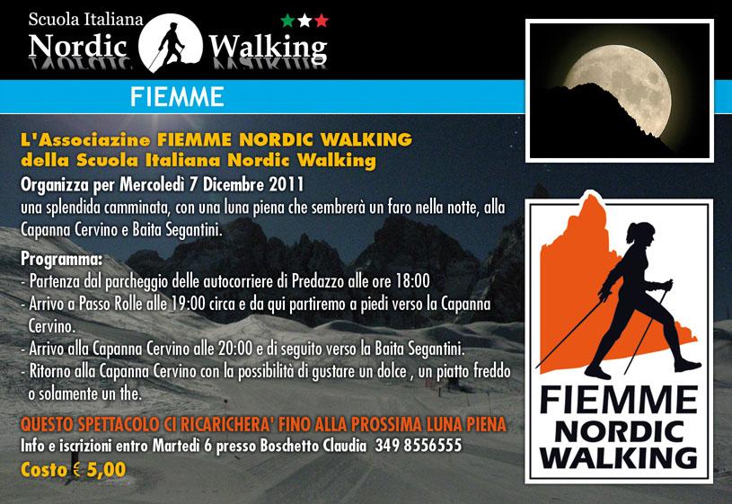 NordicWalking luna piena dic. 2011 predazzo blog Baita Segantini e luna piena con Fiemme Nordic Walking   7 dicembre 2011