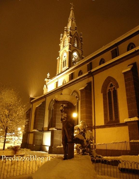 predazzo chiesa inverno predazzoblog Predazzo, avvisi della Parrocchia dal 25 dicembre al 1 gennaio
