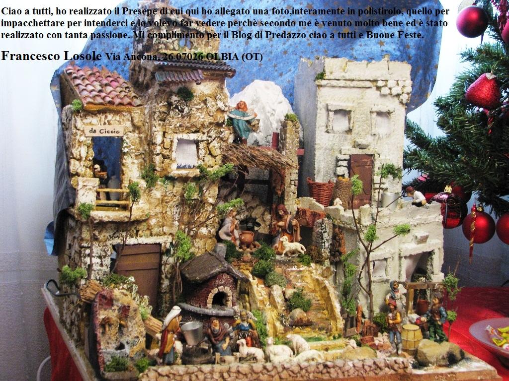 presepe francesco Olbia natale 2011 predazzo blog con dedica Buon Natale dagli amici di PredazzoBlog attraverso la foto del loro presepio