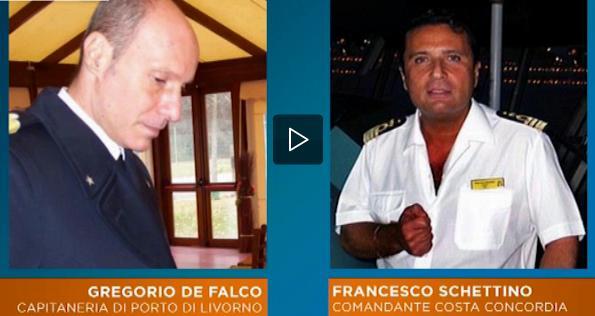 di falco e schettino Telefonata tra il comandante Schettino della Costa Concordia e la Capitaneria di Porto