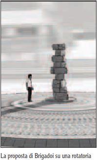 ometti di pietra predazzo blog Predazzo, ometti di pietra sulle rotatorie