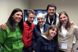 Alberto Tomba visita il team web dei Mondiali Fiemme 2013 300x200 Team Web Mondiali 2013, la Val di Fiemme ha fatto il giro del mondo