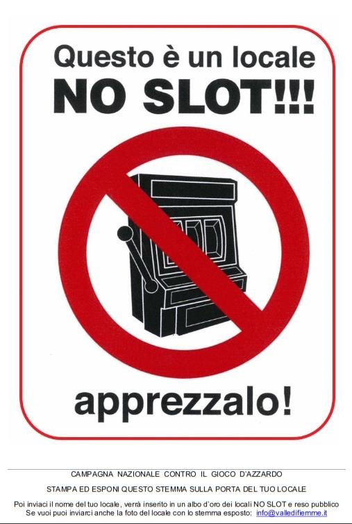 stemma no slot a4 con scritta Premi ai Comuni che combattono il gioco d'azzardo   Albo dOro dei locali No Slot
