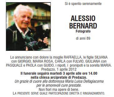 alessio bernard fotografo predazzo blog Predazzo necrologio, Alessio Bernard  (fotografo)
