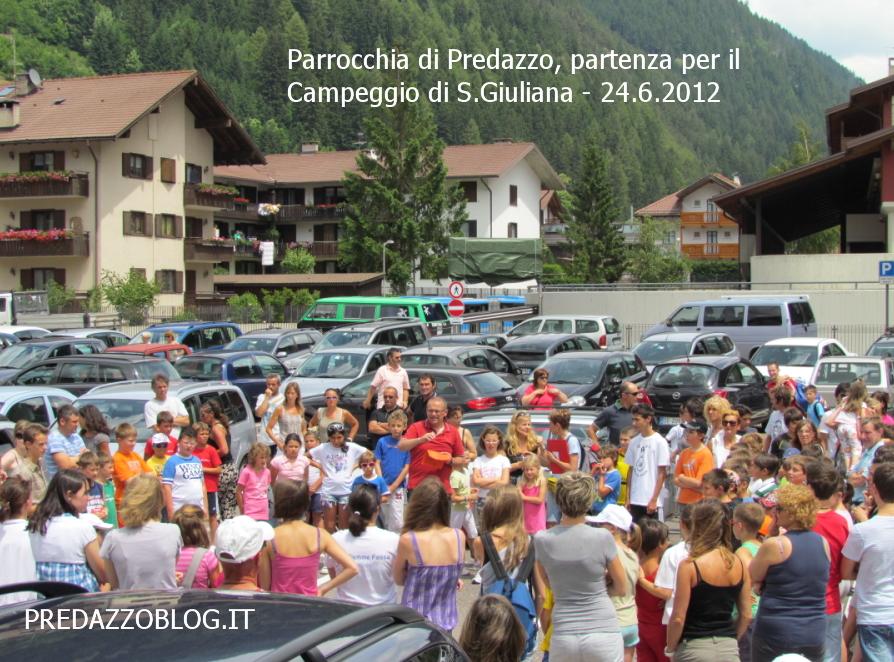 parrocchia predazzo partenza per il campeggio di s. giuliana 24.6.12 predazzoblog Predazzo, il parroco don Gigi Giovannini annuncia il suo trasferimento