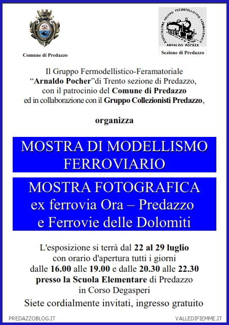 predazzo mostra modellismo ferroviario Mostra di modellismo ferroviario di Predazzo dal 22 al 29 luglio 2012