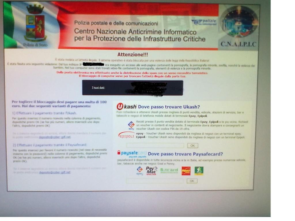 screen 1024x768 Falsa pagina della Polizia Postale: è un virus   come difendersi