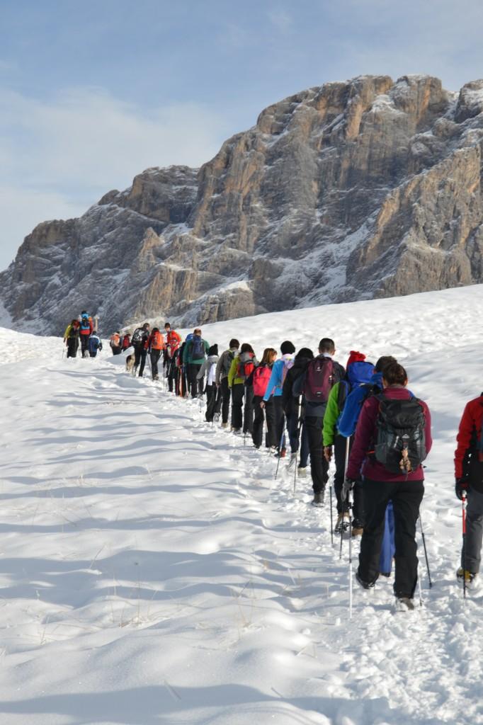 nordic walking fiemme al cristo pensante 4 dic 2011 predazzoblog2 682x1024 La Sportiva Outdoor Paradise al Passo Rolle