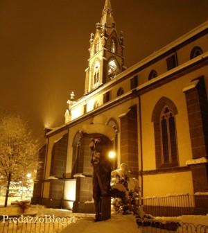 predazzo chiesa inverno predazzoblog