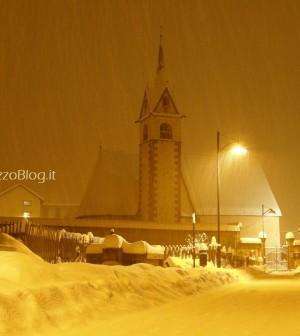 predazzo chiesa san nicolo neve predazzo blog notturna