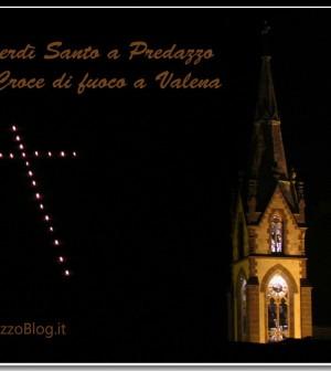 venerdi santo predazzo croce fuoco valena cornice predazzo blog