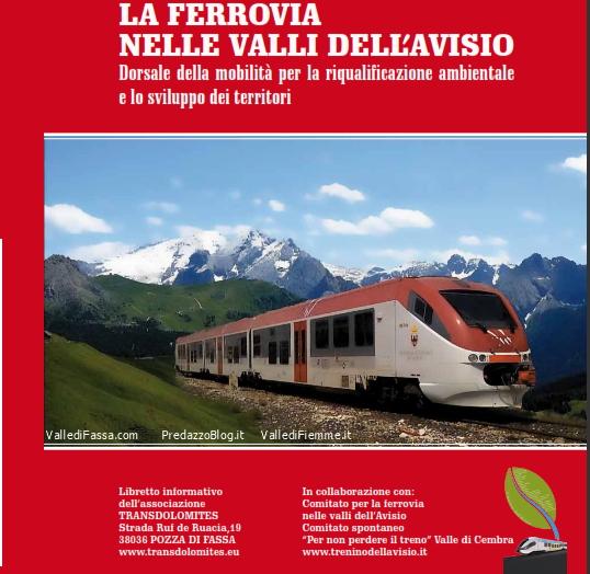 transdolomites copertina libretto Ferrovia e Mondiali della Val di Fiemme 2025 o 2027