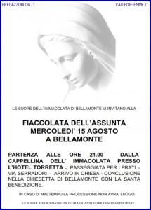 PREDAZZO BELLAMONTE FIACCOLATA ASSUNTA 15 AGOSTO 2012 215x300 Predazzo, avvisi della Parrocchia e fiaccolata a Bellamonte