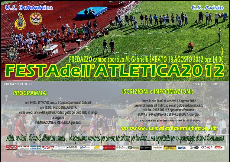 festa atletica 2012 predazzo blog Predazzo, Festa dellAtletica 2012 sabato 18 agosto