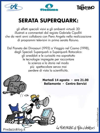 superquark a bellamonte predazzo blog Bellamonte serata SuperQuark con il regista Gabriele Cipollitti