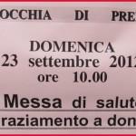 avviso messa saluto don gigi 150x150 Don Luigi Gigi Giovannini lascia e saluta la Parrocchia di Predazzo