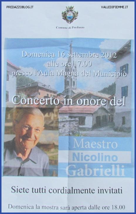concerto nicolino gabrielli predazzo blog Predazzo, concerto in onore del maestro Nicolino Gabrielli