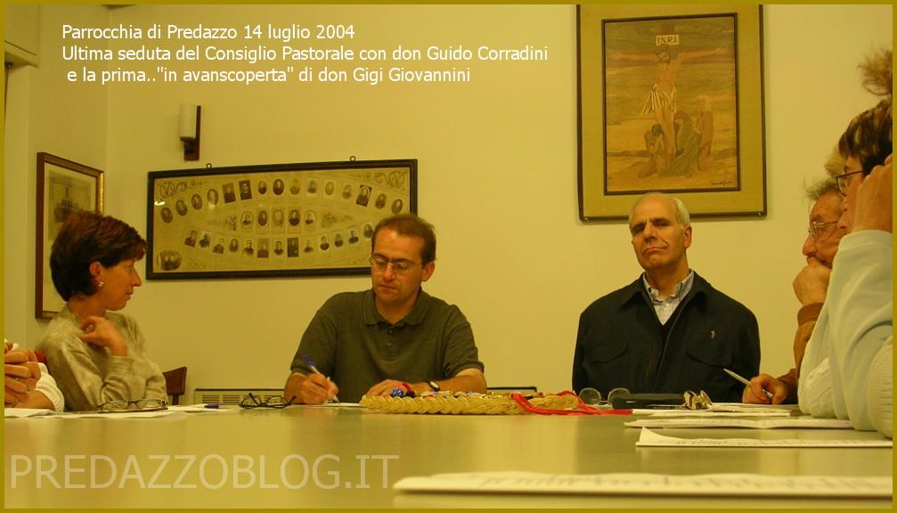 predazzo don guido corradini e don gigi giovannini 14 luglio 2004 by predazzoblog Don Luigi Gigi Giovannini lascia e saluta la Parrocchia di Predazzo
