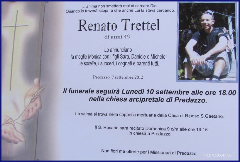 renato trettel predazzo blog Predazzo necrologio, Renato Trettel di anni 49