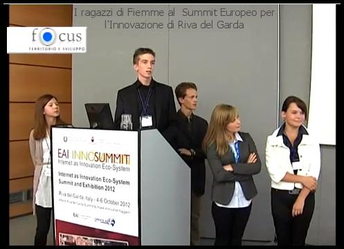 Summit Europeo per lInnovazione riva del garda ragazzi di fiemme mondial pocket Menzione speciale al Summit Europeo per lInnovazione per i ragazzi di Mondial Pocket