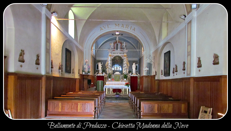 chiesa bellamonte interno by predazzo blog Predazzo, avvisi della Parrocchia dal 3 al 10 agosto