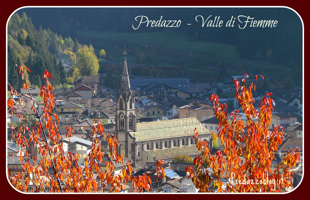 chiesa predazzo colori autunno ph mauro morandini cornice predazzoblog