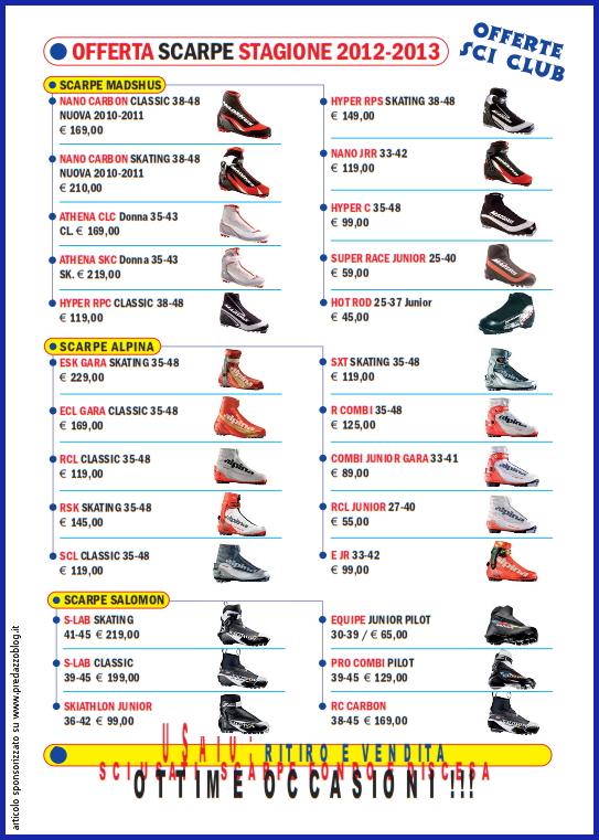 sportissimo predazzo catalogo sci fondo 2012 2013 predazzoblog pag 3 Voglia di neve? Il negozio Sportissimo di Predazzo lancia le sue proposte