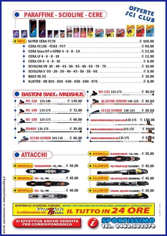 sportissimo predazzo catalogo sci fondo 2012 2013 predazzoblog pag 4 Voglia di neve? Il negozio Sportissimo di Predazzo lancia le sue proposte