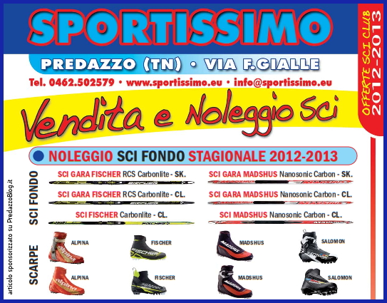 sportissimo predazzo catalogo sci fondo 2012 2013 predazzoblog top