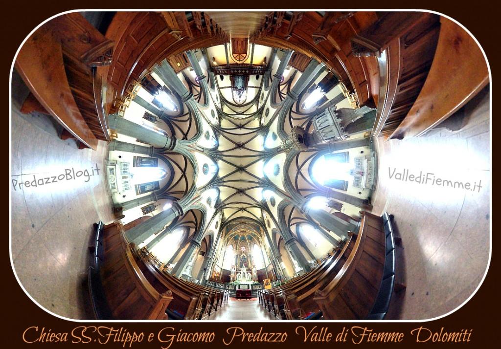 chiesa predazzo interno 360 ph by mauro morandini predazzo blog2 1024x714 Predazzo, avvisi della Parrocchia dal 18 al 25 novembre