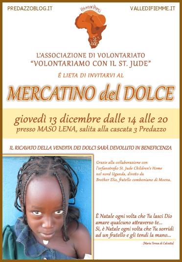 MERCATINO DOLCE ST JUDE Mercatino del dolce a Predazzo per il St.Jude Childrens Home