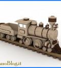 locomotiva in legno di larice