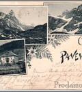 cartolina storica paneveggio predazzo
